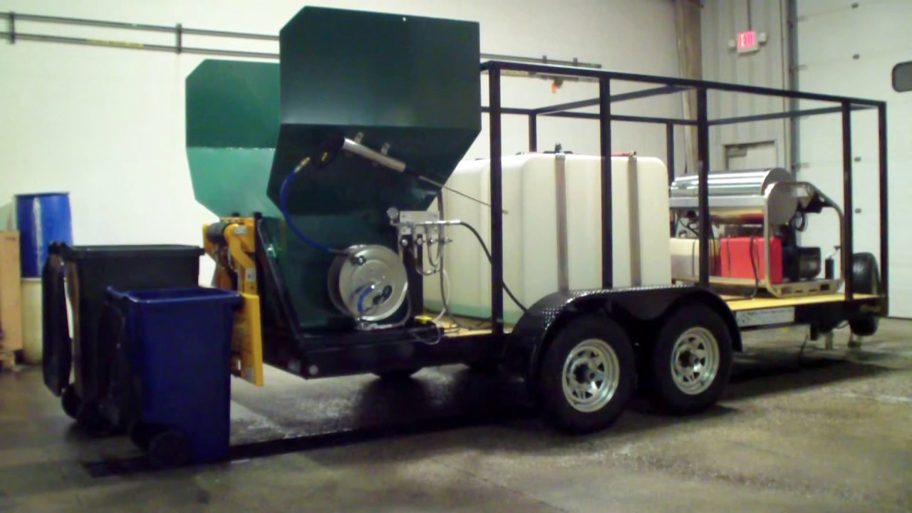 Wheelie Bin Cleaning >> Trash Bin Cleaning Business - Wheelie bin cleaner 800-666-1192 - YouTube