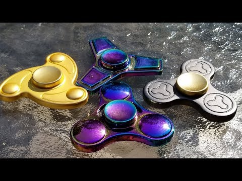 Fidgetz Shop Metal Fidget Spinners, Unboxing, Review, and Giveaway.