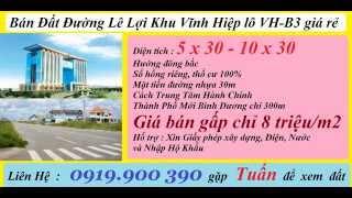 Bán Đất Vĩnh Hiệp lô VH-B3 đường Lê Lợi Giá Rẻ_0919.900 390