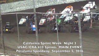 Petaluma Speedway USAC/CRA 410 Sprint Feature