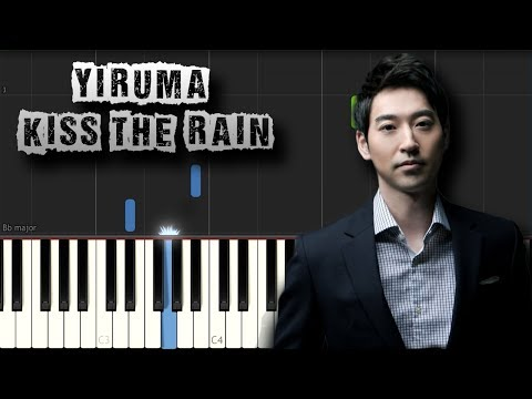 Yiruma - Kiss The Rain - Piano Tutorial Synthesia (Download MIDI)