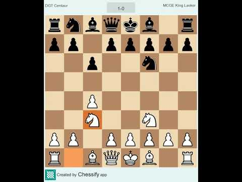 Game 2 • 5 min/game • DGT Centaur Chess Computer vs. MCGE King Lasker