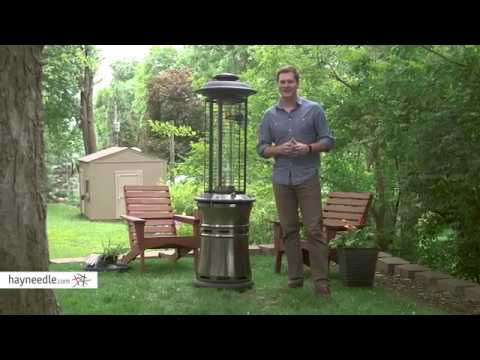 Red Ember Carbon Collapsible Gun Metal Glass Tube Patio Heater   Product  Review Video