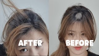 [HOW TO] Cover Bald Spots Using Thick Fiber by a Korean Hair Stylist (ENG Sub)
