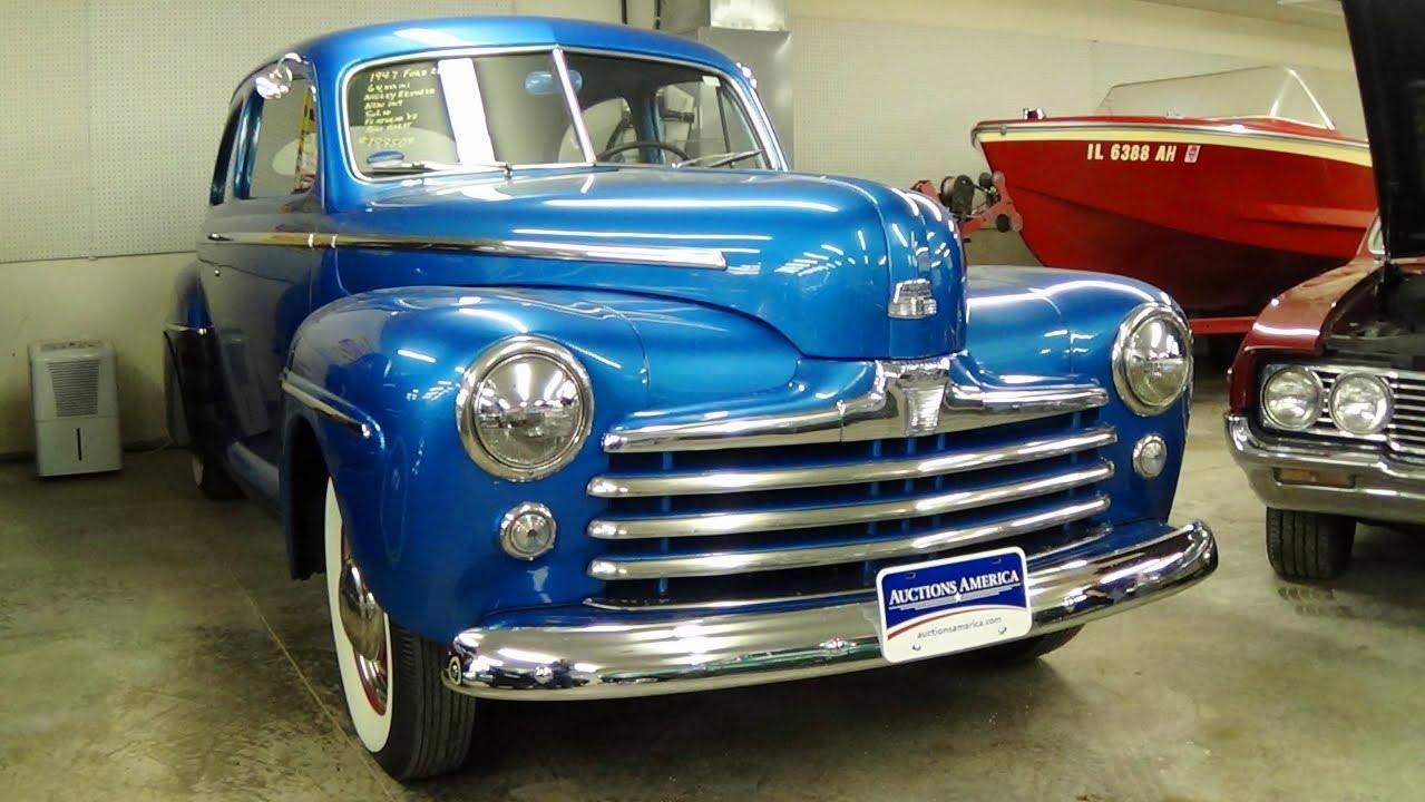1947 Ford Super Deluxe Hot Rod 2 Door Sedan Flathead V8