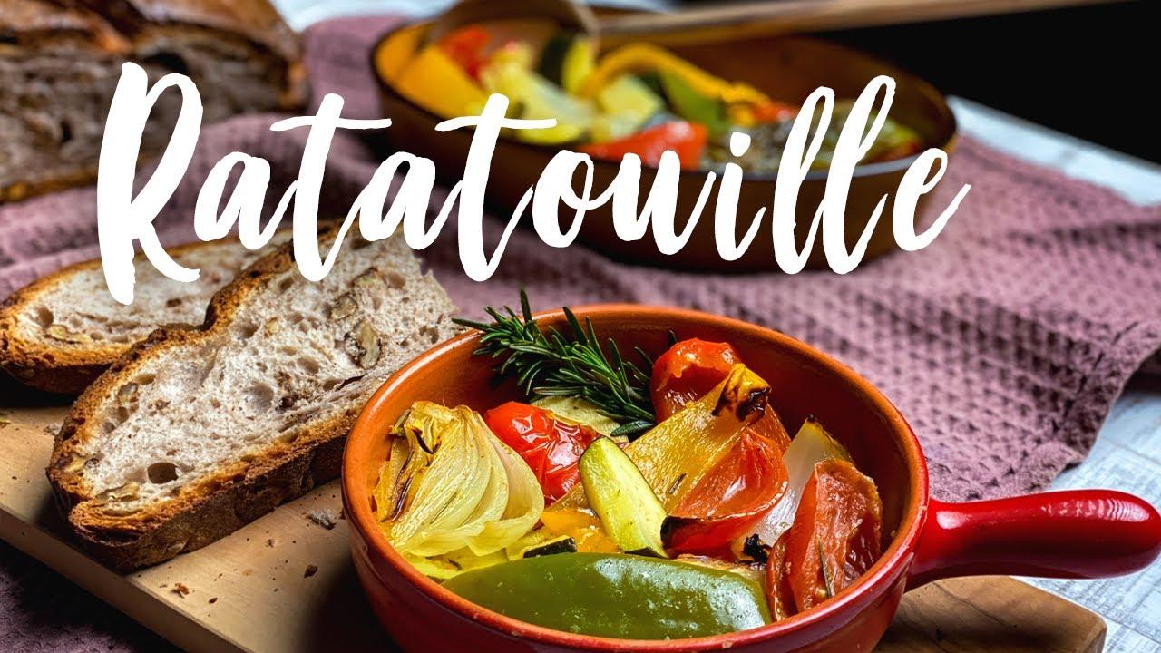 Gemüse Ratatouille - Ofen Rezept mit herrlichen Röstaromen - vegan, schnell und einfach!