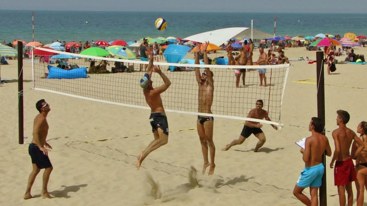 terreno de juego de voley playa