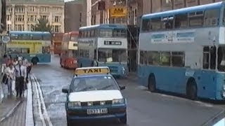 Derby Buses 1991, Amazing nostalgic view into public transport in Derby before pedestrianisation.