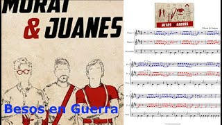 Besos en guerra. Morat & Juanes. Partitura flauta dulce.