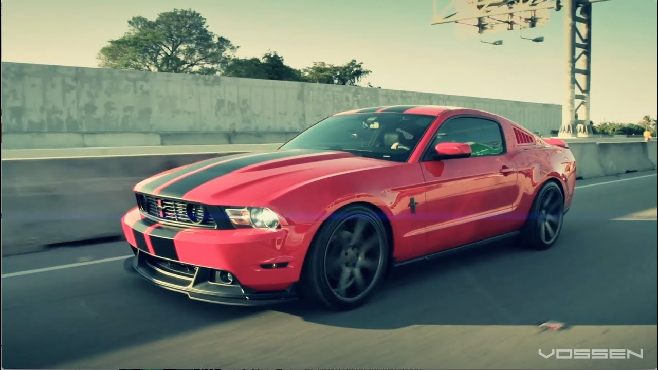 Ford Mustang On 20 Vossen Vvs Cv7 Concave Wheels Rims