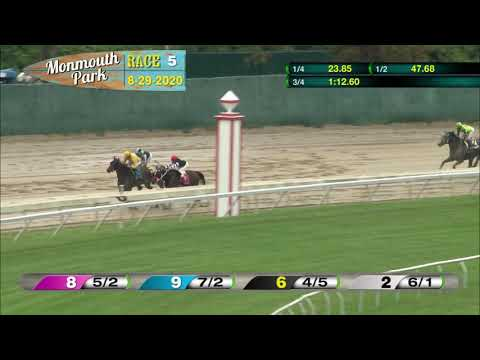 video thumbnail for MONMOUTH PARK 08-29-20 RACE 5 – THE EATONTOWN STAKES