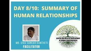 Day8/10 - Mr. Siva Kantheti - Universal Human Values / Jeevan Vidya Online Workshop