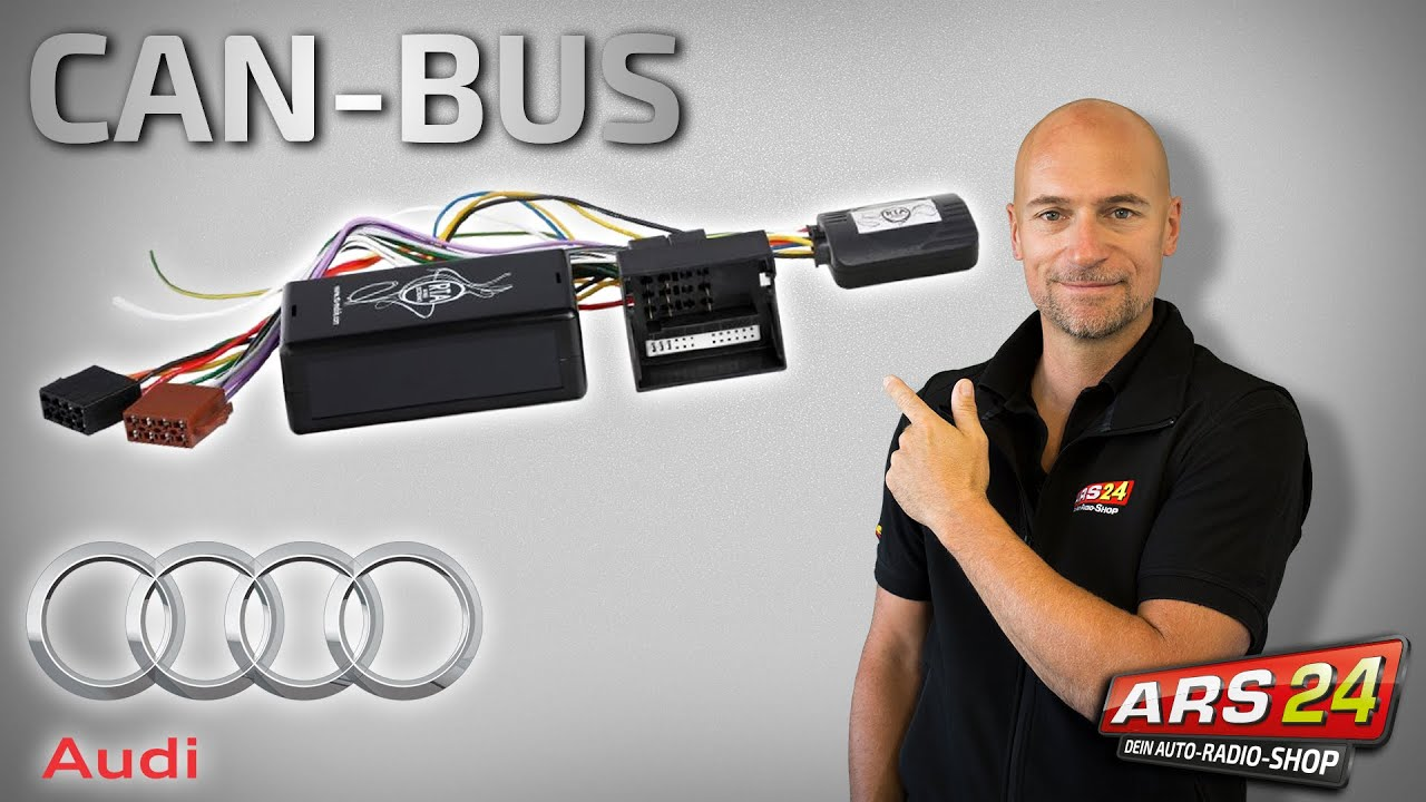 Autoradioeinbau Im Audi Aktivsystem Can Bus Ford Au Head Unit Wiring Diagram Car Radio Installation In The Active System Steering Wheel Remote Control
