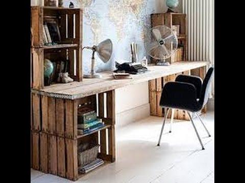 C mo hacer un escritorio econ mico ideas de - Como hacer una mesa de ordenador ...