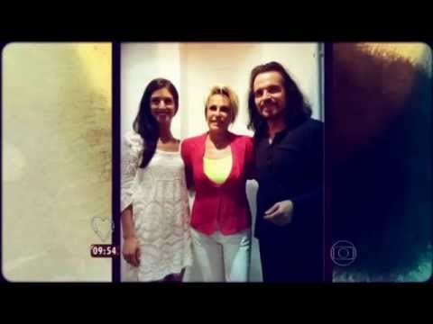 Ana Maria Braga introduces Yanni's daughter, Krystalán, on her TV show in Brazil