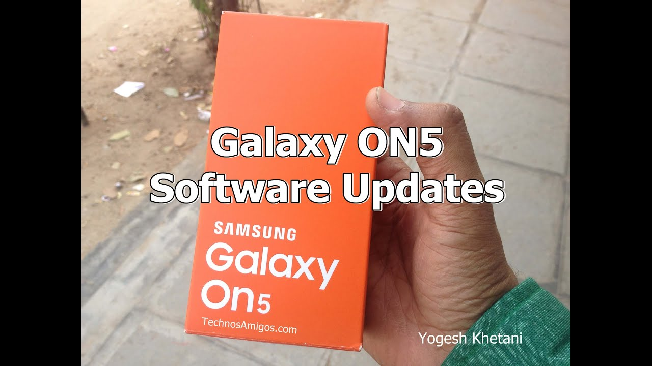 How to Check for Latest Software Update on Galaxy ON5 Phone