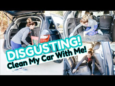 CLEAN MY CAR WITH ME 2019 | MY CAR IS DISGUSTING! 🤢😱
