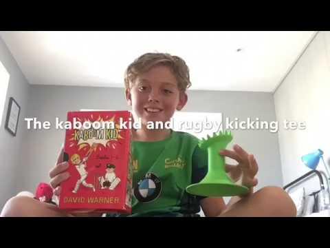 The kaboom kid and rugby kicking tee