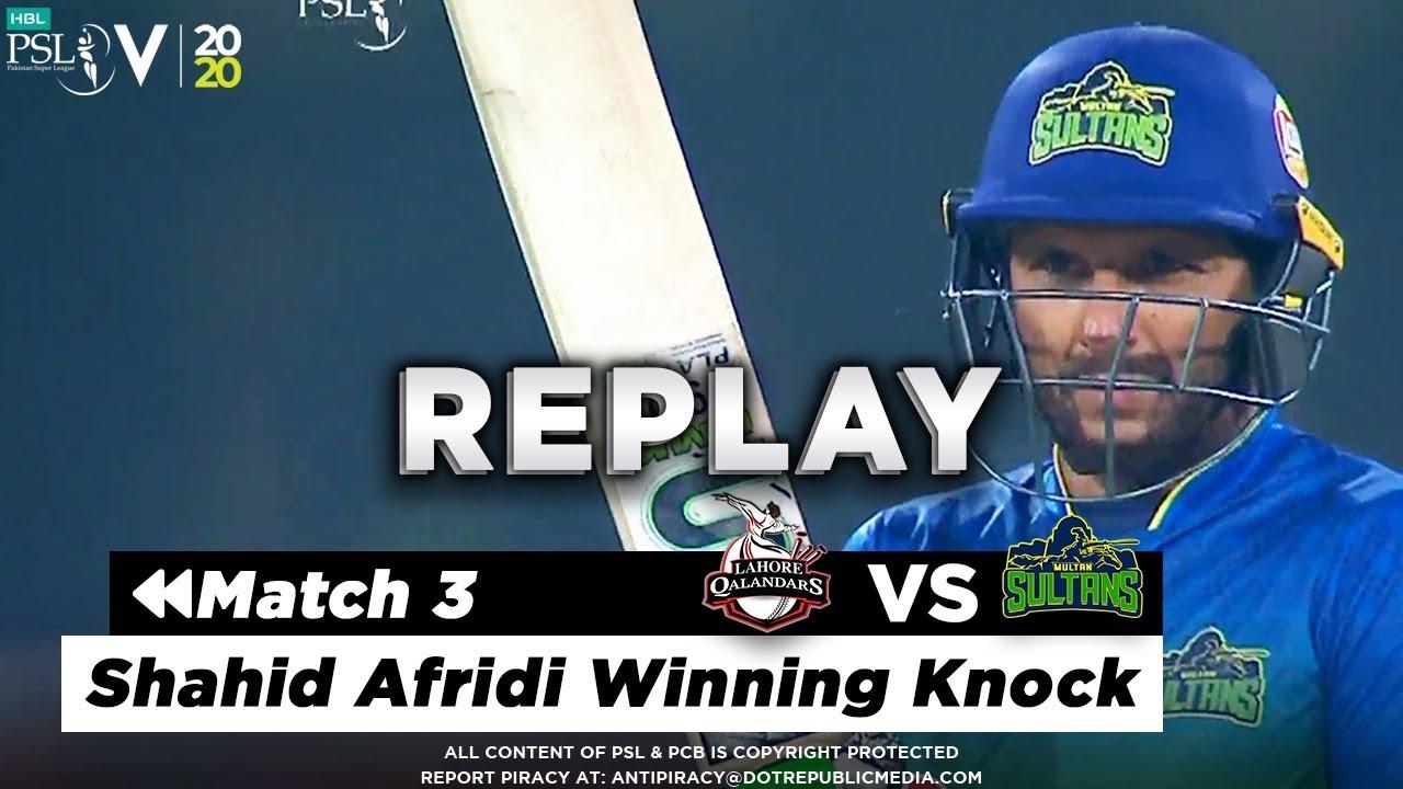 Download Shahid Afridi Winning Knock | Lahore Qalandars vs Multan Sultans | Match 3 | HBL PSL 5 | 2020