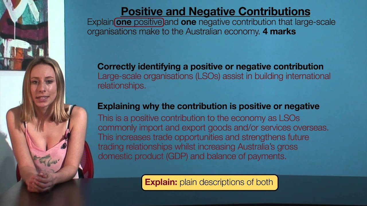 Download VCE Business Management - Positive and Negative Contributions