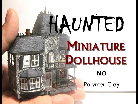 Paper Haunted Halloween Miniature Dollhouse's Dollhouse Tutorial How To