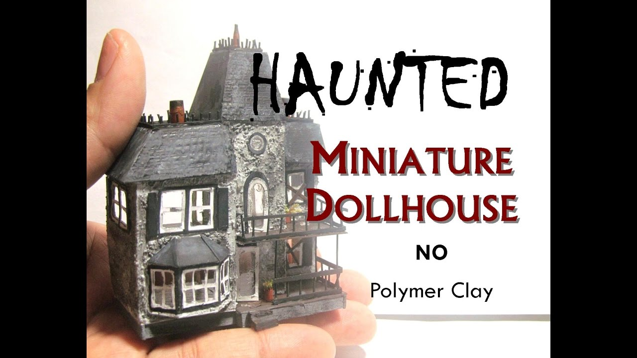 Halloween Miniaturen.Paper Haunted Halloween Miniature Dollhouse S Dollhouse Tutorial How To