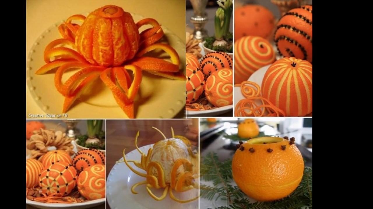 fruit decoration ideas orange youtube