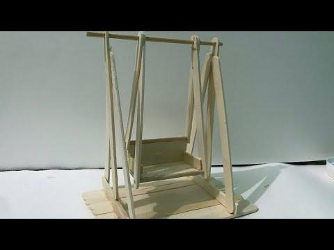 DIY swing wooden ice cream sticks