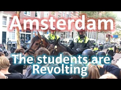 Amsterdam Students are Revolting. (Protest PC Hoofthuis)