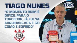 AO VIVO! Tiago Nunes fala após empate do Corinthians com Santo André