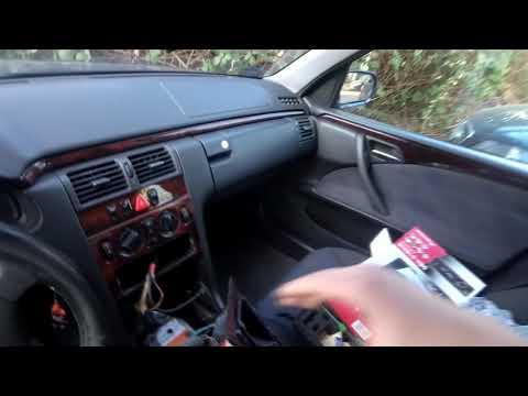 Замена Установка Штатной Магнитолы Мерседес  Mersedes W210  Pioneer Deh-S100UB как снять-подключить