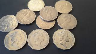 Australian 50 cent coins worth money