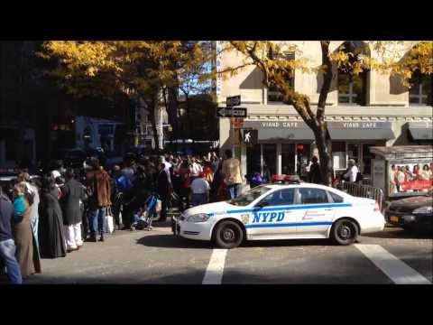 THE DALAI LAMA'S MOTORCADE IN NEW YORK LEAVING THE BEACON THEATER ON 75TH ST. IN MANHATTAN.