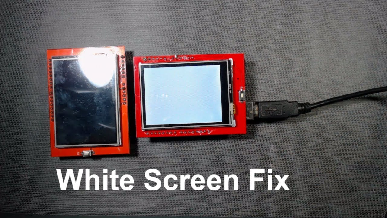 How to fix white screen of tft touch screen with arduino | TFT unknown  driver Fix by DPV TECHNOLOGY