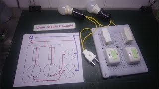 Hướng dẫn lắp ráp mạch điện hai công tắc hai cực điều khiển hai đèn. Công nghệ 9, Quốc Media Channel