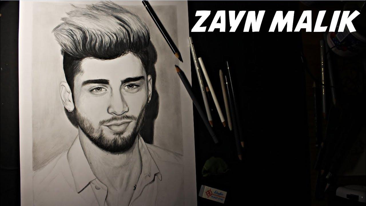 Zayn Malik Speed Drawing Art Youtube