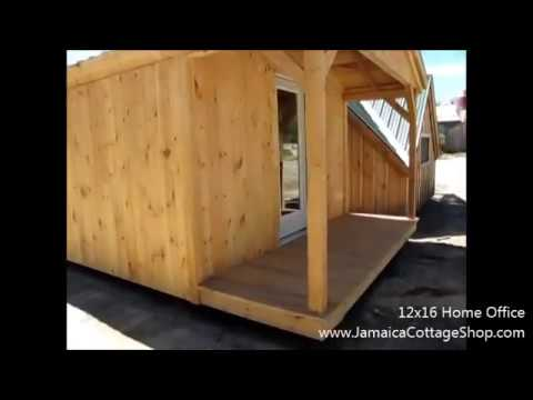 DIY - Build or Buy this 12X16 Tiny House Extra Bedroom Home Office (Free Shipping on Pre Cut Kits)