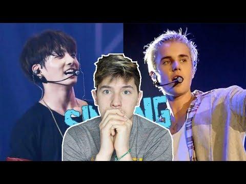 WHO WON? Jeon Jungkook (BTS) VS Justin Bieber REACTION | BTS reaction