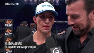 Bellator 192: Rory MacDonald - Post-Fight Interview