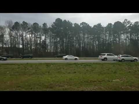 Car Crashes Into Barrier Ahead of President Trump's Motorcade in Opelika, Alabama
