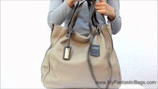Arcadia leather tote bag - Made in Italy