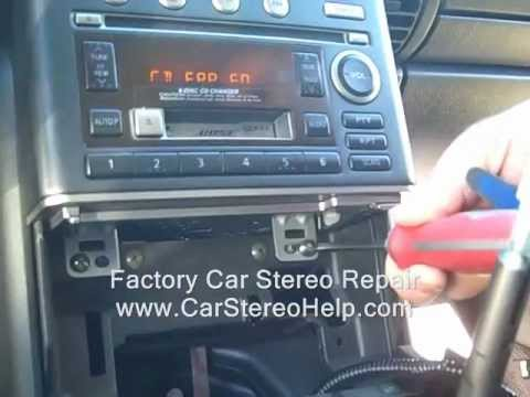 How to Infiniti G35 Bose Stereo radio Removal  Audio Finisher AC - repair 2002 - up controls