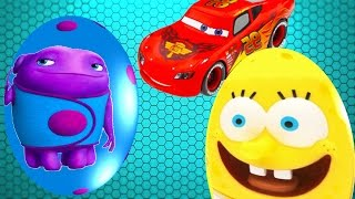 Surprise Eggs Spongebob Squarepants OH Home Disney Cars Toys Surprise - Fun Cartoon for children