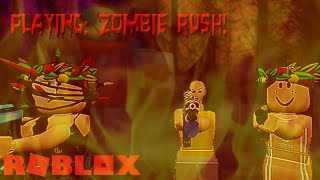 ZOMBIE ATTACK! - Playing: Roblox | Playing Zombie Rush /w katieeelei & queen_baddie12341