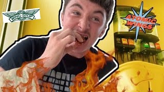 EXTREMELY HOT! ATOMIC HOT WINGS! WING STOP CHALLENGE!!