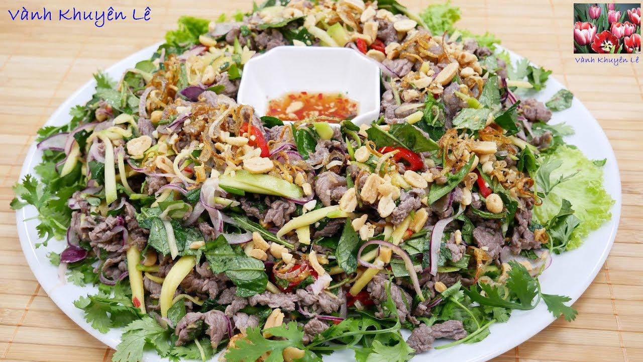 GỎI BÒ RAU RĂM – Cách làm Gỏi không ra nước, bí quyết Thịt Bò mềm ngọt không bị dai by Vanh Khuyen