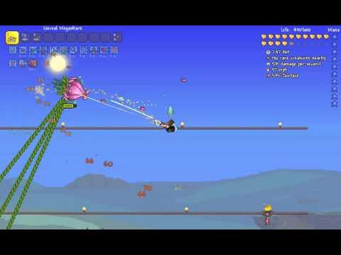 Terraria 1.3.0.7: Expert Plantera kill (Enraged, surface)
