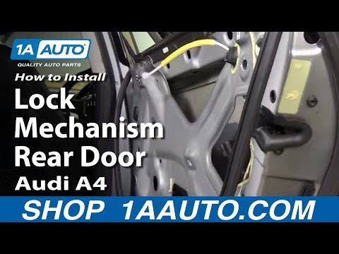How to remove and replace a door panel audi a4 doovi for 2003 audi a4 rear window regulator replacement