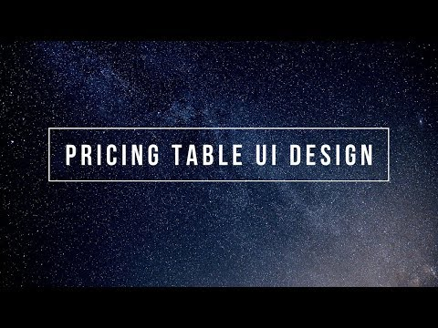 Simple Pricing Table using Bootstrap | Responsive Pricing Table