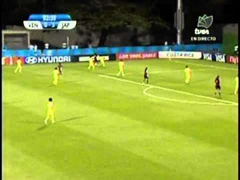 Tercer gol de Japón contra Venezuela, semifinales Mundial Femenino Sub-17